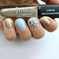 Love this creative manicure by @hambysmith, using Julep Ginger