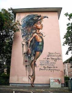 'My superhero power is forgiveness'… that's pretty much left me without much to say! Herakut in Mannheim, Germany.