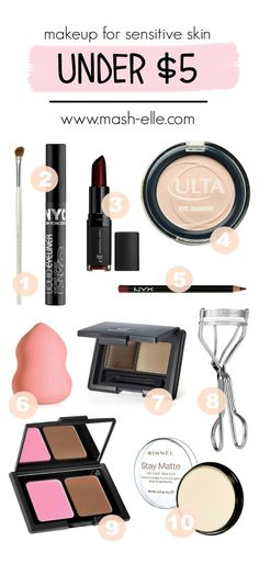 Attention ladies with sensitive skin! Here is a list of makeup products… Attention ladies with sensitive skin! Here is a list of makeup products… Beauty Make-up, Best Beauty Tips, Beauty Hacks, Luxury Beauty, Beauty Trends, Natural Beauty, Homemade Acne Treatment, Beauty Brushes, Makeup Brushes
