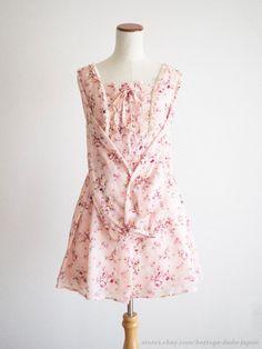 LIZ LISA ×My Melody Cute Charm Floral Ribbon OP Dress Sweet Lolita Kawaii Japan #LizLisa #PeplumTunic #Party