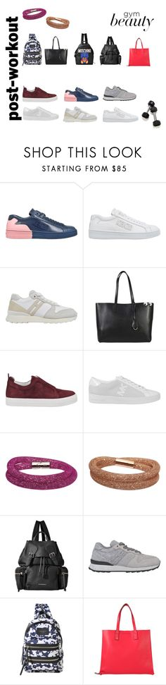 """""""Post-Workout"""" by monnierfreres ❤ liked on Polyvore featuring Kenzo, Hogan, Anya Hindmarch, Pierre Hardy, MICHAEL Michael Kors, Swarovski, Burberry, Marc Jacobs and Moschino"""