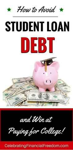 You don't need student loans! Tips for parents and students to avoid student loans and pay cash for college.   Just Click the Pic to get started…  #college #studentloans #debt #money  http://www.cfinancialfreedom.com/avoid-student-loan-debt-paying-college