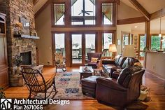 Rugged Mountain Plan With Great Outdoor Spaces