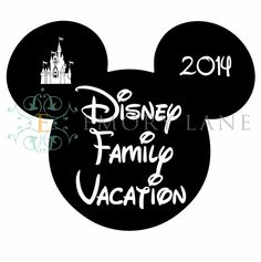 Mouse Silhouette Printable Disney Family by EmoryLaneStudios