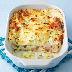 Zucchini-Schinken-Lasagne It does not always have to be minced meat. Ham gives a very spicy note that goes well with the zucchini. Lasagne Recipes, Pasta Recipes, Diet Recipes, Cooking Recipes, Healthy Recipes, Healthy Food, Lasagna Zucchini, Carne Picada, I Love Food