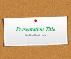 Slide Corkboard #PowerPoint Template, #free PPT slide background that you can download for MS Office PowerPoint. Also compatible with LibreOffice or #Keynote #presentations as well.