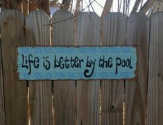 Must make pool sign!