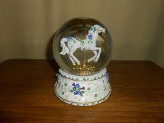 Snow Globe San Francisco Music Box Co Carousel Horse   eBay