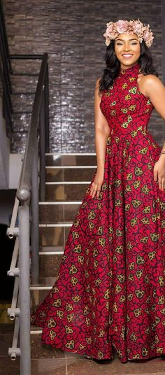 African Maxi Dresses, African Attire, Long Gowns, Ankara, African Fashion, Traditional, Lace, Style, Women's Work Fashion