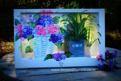Hand Painted Window - Let the Sun Shine In - Contact sandshara@msn.com for pricing