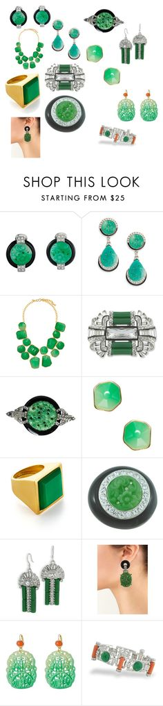 """""""Kenneth Jay Lane Does Jade"""" by elegantartifacts ❤ liked on Polyvore featuring Kenneth Jay Lane"""