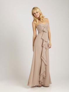 A-line empire waist chiffon dress