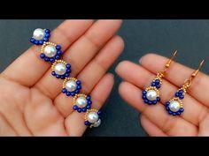 Beaded Bracelets Tutorial, Beaded Bracelet Patterns, Jewelry Patterns, Beaded Earrings, Earrings Handmade, Handmade Jewelry, Seed Bead Patterns, Bead Jewellery, Wire Jewelry