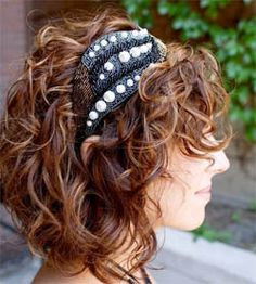 Curly hair. - Cute look.