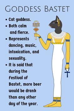 Egyptian Goddess Tattoo, Bast Goddess, Egyptian Mythology, Egyptian Cats, Ancient Egyptian Art, Ancient History, Egyptian Cat Tattoos, European History, Ancient Aliens