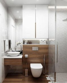 Dreaming of a luxurious or designer master bathroom? We've gathered together lots of gorgeous master bathroom ideas for small or large budgets, including baths, showers, sinks and basins, plus bathroom decor some ideas. Modern Bathrooms Interior, Modern Master Bathroom, Bathroom Layout, Modern Bathroom Design, Bathroom Interior Design, Bathroom Ideas, Bathroom Organization, Bathroom Mirrors, Tile Layout