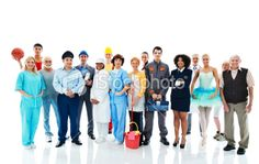 Various Occupations. Royalty Free Stock Photo