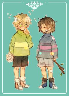 Frisk and Human!Asriel from Undertale