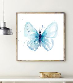 Butterfly Art Butterfly Watercolor Painting Art by Zendrawing