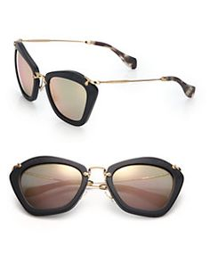 Miu Miu - 55MM Modified Cat's-Eye Sunglasses