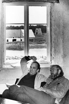 "Ingmar Bergman and cinematographer Sven Nykvist on the set of SCENES FROM A MARRIAGE (""Scener ur ett äktenskap"", 1972)"