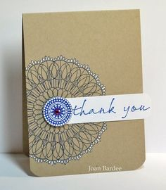 thank you card So simple can use SU medallion stamp or CS stencil