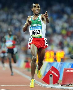 Ethiopian long-distance runner Kenenisa Bekele holds the world record and Olympic record in both the 5000-meter and 10,000-meter events.  The 29-year-old runner has won three Olympic gold medals and five world championship titles.