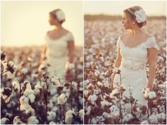 cotton field photo shoot! just right for a little country girl