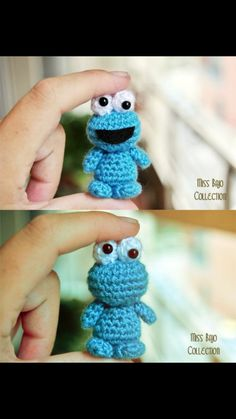 Crochet tiny copkie monster