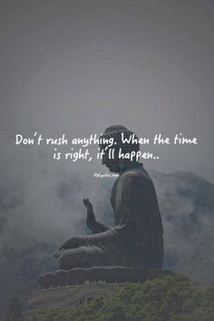Don't rush anything, when the time is right, it'll happen