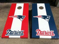 Patriots cornhole boards
