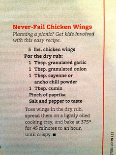 My Organized Nutshell: Never Fail Chicken Wings – So Funny Epic Fails Pictures Turkey Recipes, Chicken Recipes, Chicken Ideas, Food Network Recipes, Cooking Recipes, Easy Recipes, Top Recipes, Copycat Recipes, Cooking Ideas