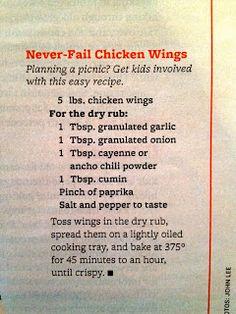 Never Fail Chicken Wings (Guy Fieri's recipe)