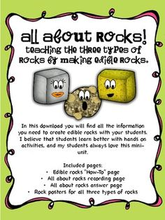 Fun with the 3 types of rocks!