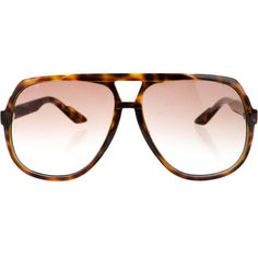 Pre-owned Gucci Web Tortoiseshell Sunglasses (£120) ❤ liked on Polyvore featuring accessories, eyewear, sunglasses, brown, brown tortoise shell glasses, gucci glasses, acetate sunglasses, tortoise shell sunglasses and tortoise sunglasses
