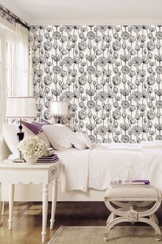 "These aren't your granny's florals. From this monochrome wonder wall from [link url=""http://www.galeriewallcoverings.com/""]Galerie[/link] to [link url=""http://www.houseandgarden.co.uk/homes/furnishings/wallpaper/cole-son-insects""]Vivienne Westwood's dark wallpaper designs[/link] (yep, she does that now too), it's time to embrace the dark side. [link url=""http://www.houseandgarden.co.uk/homes/furnishings/wallpaper""]Wallpapers we love[/link]"