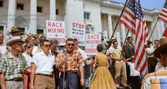 Little Rock, AR protest against the integration of 9 black students into a white school. 1959. Not so long ago.. - Imgur