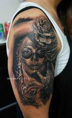 15 absolutely sexy Day of the Dead Tattoos! | Tattoo.com