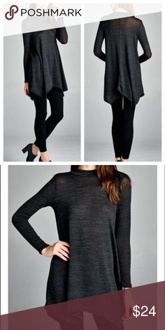 Long Sleeve Charcoal Tunic Brand new super soft tunic. Great with a pair of leggings. No trades and no holds. Happy shopping! 😃 Tops Tunics