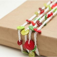 DIY Button Garland - for your tree, your presents, your mantle - anywhere you choose!