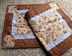Dragonfly Quilted Table Runner Summer by gallagherquilting on Etsy