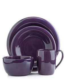 Tabletops Unlimited Dinnerware, Espana 4 Piece Place Setting - Casual Dinnerware - Dining & Entertaining - Macy's One place setting in all the colors to mix and match