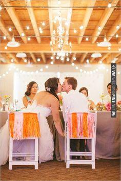 bride and groom chair decor | VIA #WEDDINGPINS.NET