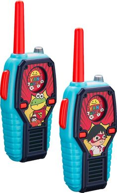 Shop eKids Ryan's World Radios (Pair) Red/Blue/Black at Best Buy. Find low everyday prices and buy online for delivery or in-store pick-up. Blue Black Color, Red And Blue, Frozen Cupcake Toppers, Pumpkin Patch Birthday, Ryan Toys, Lego Wallpaper, Easter Toys, Bookmarks Kids, Shopping