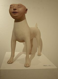 Untitled sculpture in clay by Yoko Ukai