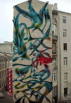 Street art in Moscow, Russia by Pantonio