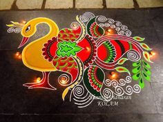 Rangoli Designs Latest, Simple Rangoli Designs Images, Rangoli Designs Flower, Rangoli Ideas, Colorful Rangoli Designs, Rangoli Designs Diwali, Diwali Rangoli, Flower Rangoli, Beautiful Rangoli Designs