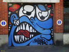 By @Bebarbarie (Vitry - France) Street Art Graffiti, House Wall, France, Urban Art, Street