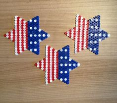 Fourth of july stars and stripes hama beads by TCAshop on Etsy
