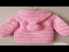 Gorgeous pink crochet hooded jacket for baby or toddler from hobbievimm